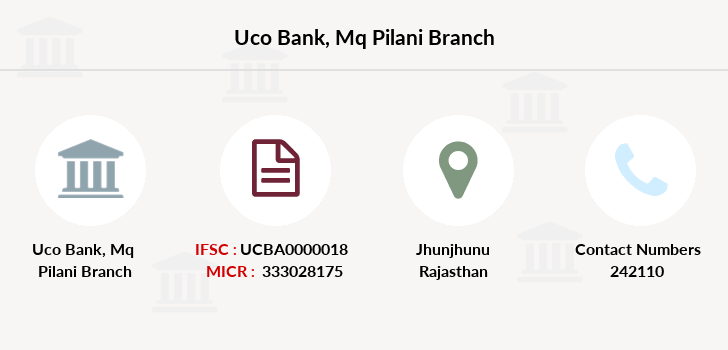 Uco-bank Mq-pilani branch