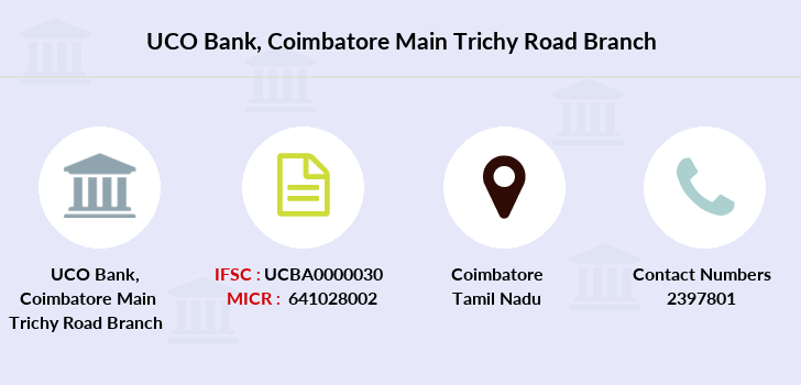 Uco-bank Coimbatore-main-trichy-road branch