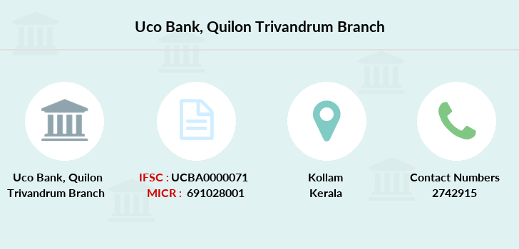Uco-bank Quilon-trivandrum branch