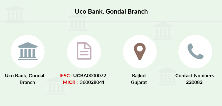 Uco-bank Gondal branch