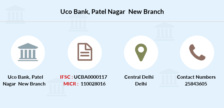 Uco-bank Patel-nagar-new branch