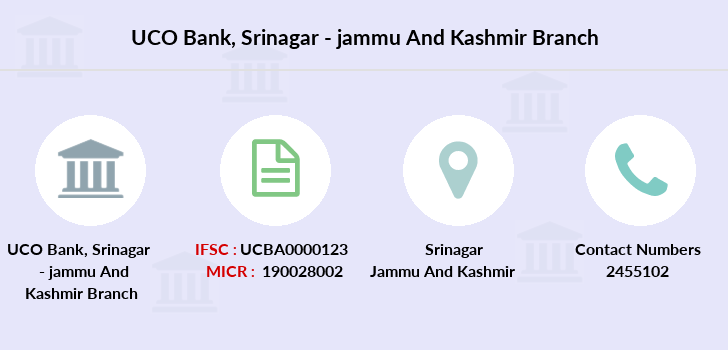 Uco-bank Srinagar-jammu-and-kashmir branch
