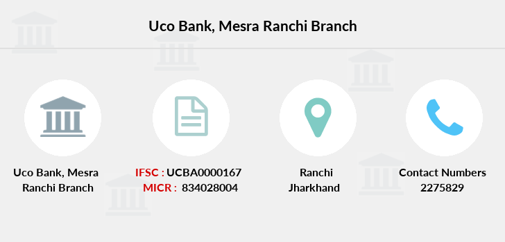 Uco-bank Mesra-ranchi branch