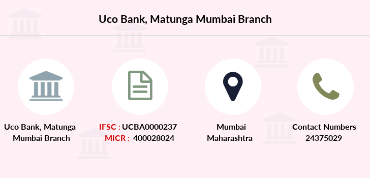 Uco-bank Matunga-mumbai branch