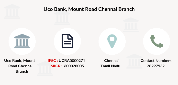Uco-bank Mount-road-chennai branch