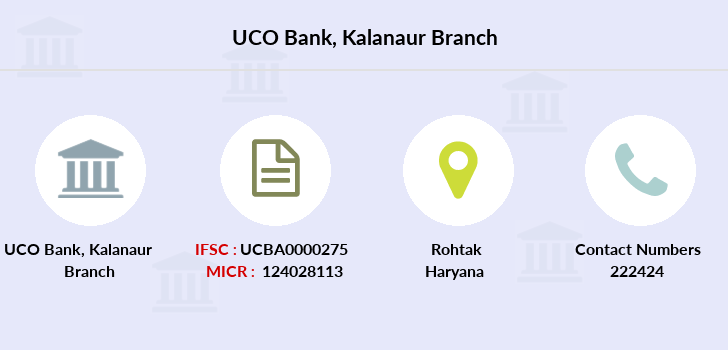 Uco-bank Kalanaur branch