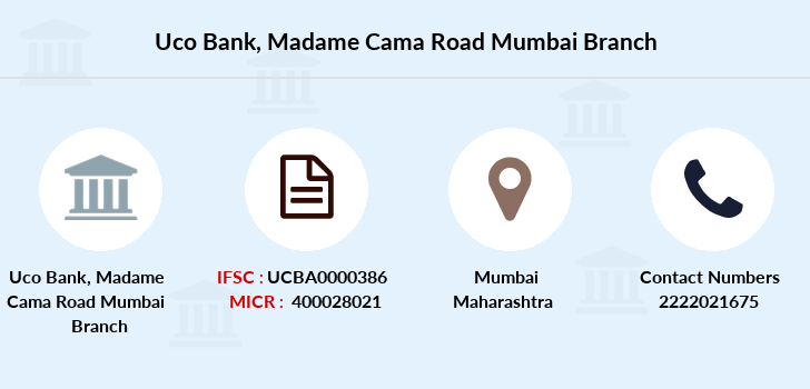 Uco-bank Madame-cama-road-mumbai branch