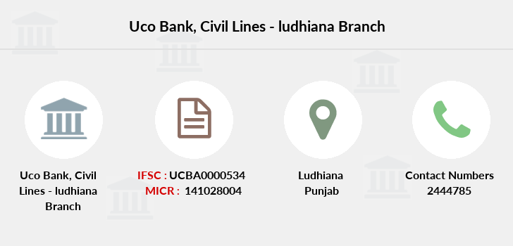 Uco-bank Civil-lines-ludhiana branch