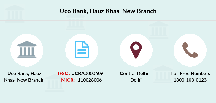 Uco-bank Hauz-khas-new branch