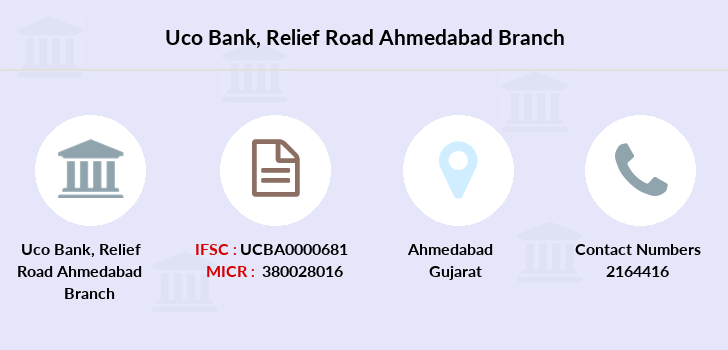 Uco-bank Relief-road-ahmedabad branch