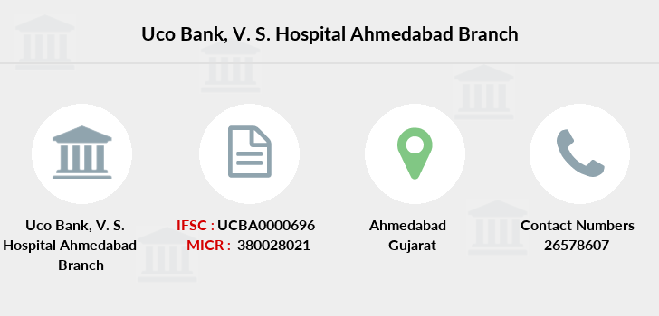 Uco-bank V-s-hospital-ahmedabad branch