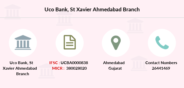 Uco-bank St-xavier-ahmedabad branch