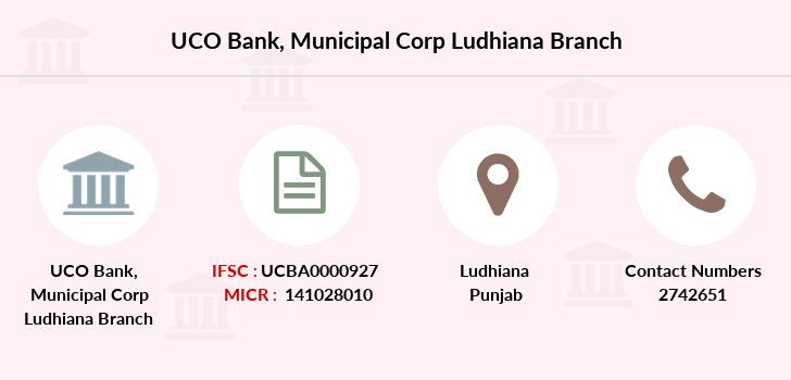 Uco-bank Municipal-corp-ludhiana branch