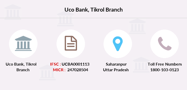 Uco-bank Tikrol branch