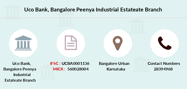 Uco-bank Bangalore-peenya-industrial-estateate branch
