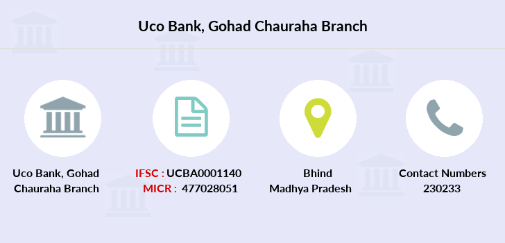 Uco-bank Gohad-chauraha branch