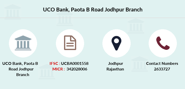 Uco-bank Paota-b-road-jodhpur branch