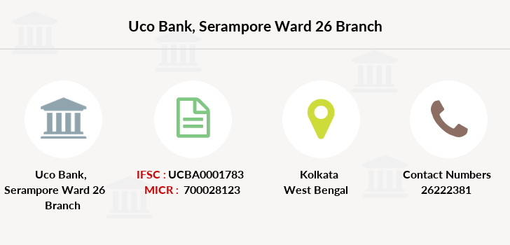 Uco-bank Serampore-ward-26 branch