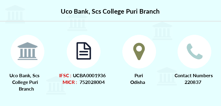Uco-bank Scs-college-puri branch