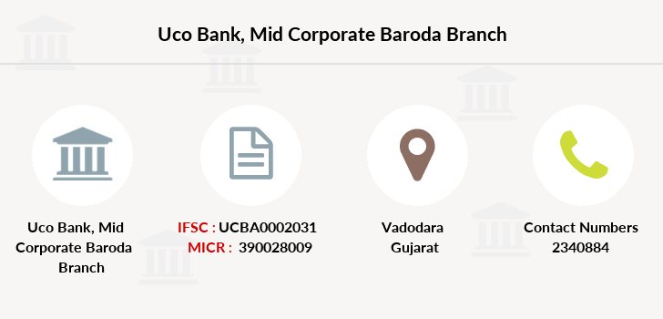 Uco-bank Mid-corporate-baroda branch