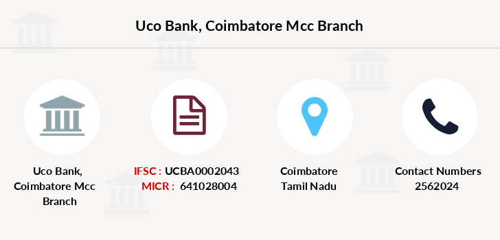 Uco-bank Coimbatore-mcc branch