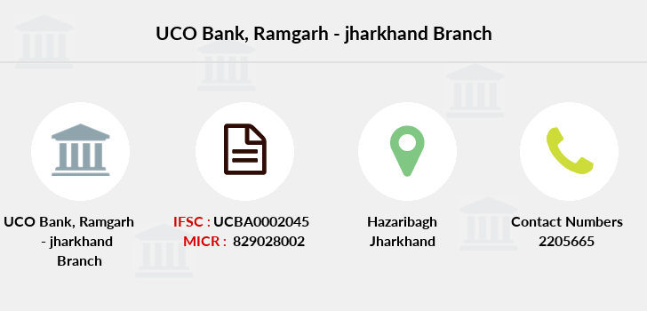 Uco-bank Ramgarh-jharkhand branch