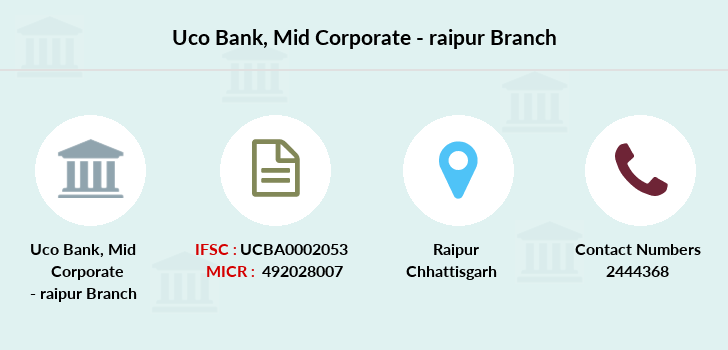 Uco-bank Mid-corporate-raipur branch