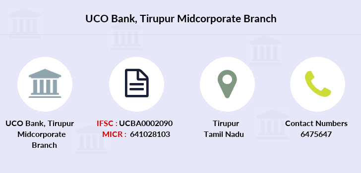 Uco-bank Tirupur-midcorporate branch