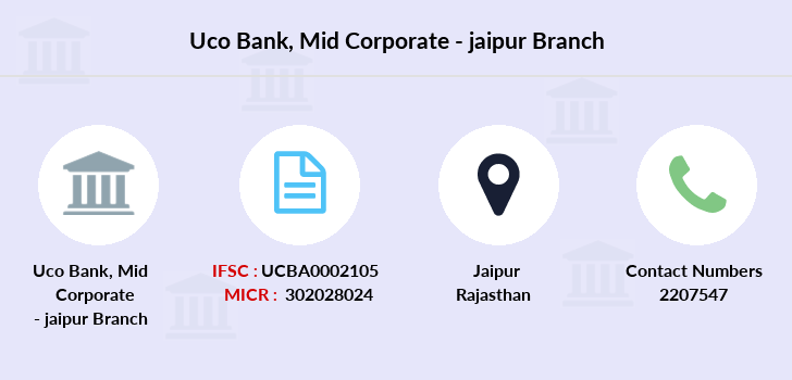 Uco-bank Mid-corporate-jaipur branch