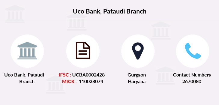 Uco-bank Pataudi branch