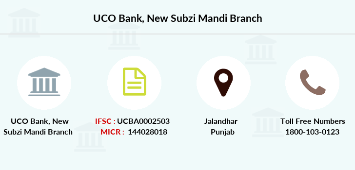 Uco-bank New-subzi-mandi branch