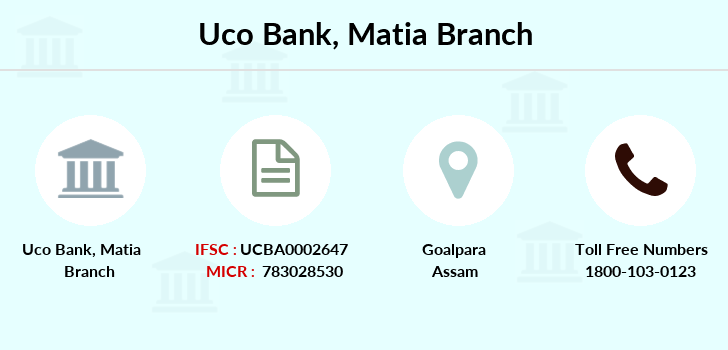 Uco-bank Matia branch