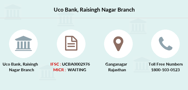 Uco-bank Raisingh-nagar branch