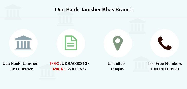 Uco-bank Jamsher-khas branch
