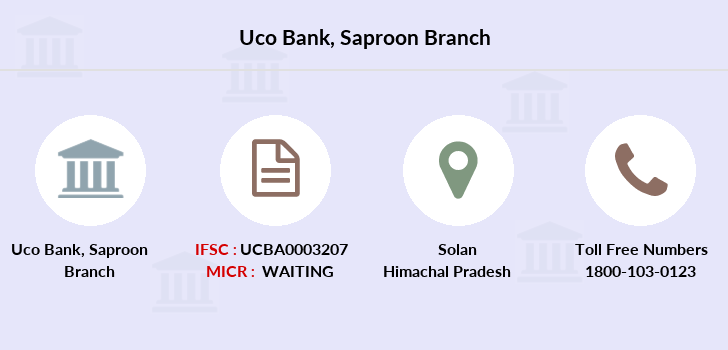 Uco-bank Saproon branch