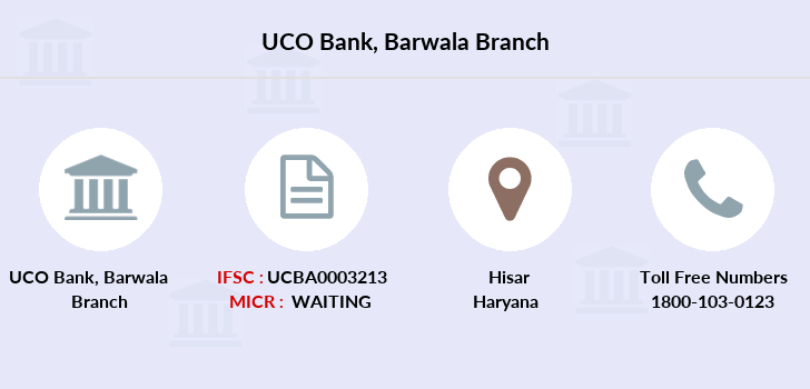 Uco-bank Barwala branch