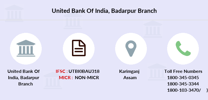 United-bank-of-india Badarpur branch