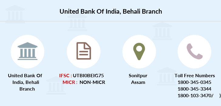 United-bank-of-india Behali branch