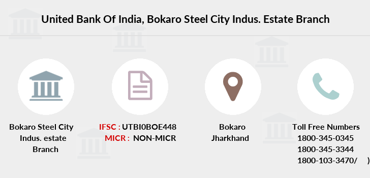 United-bank-of-india Bokaro-steel-city-indus-estate branch
