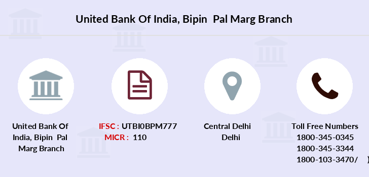 United-bank-of-india Bipin-pal-marg branch