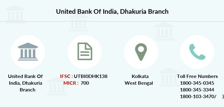 United-bank-of-india Dhakuria branch