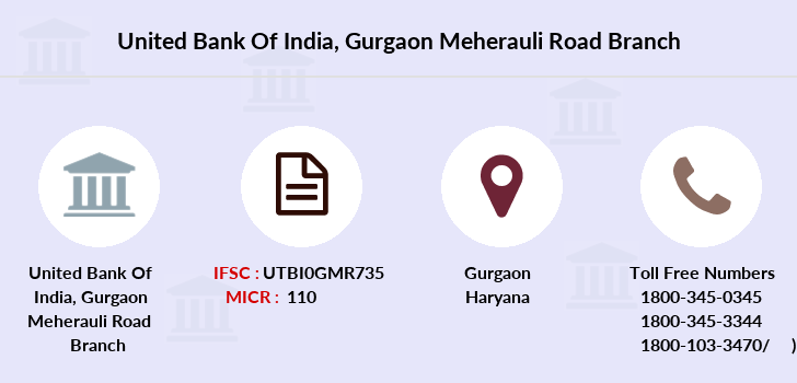 United-bank-of-india Gurgaon-meherauli-road branch