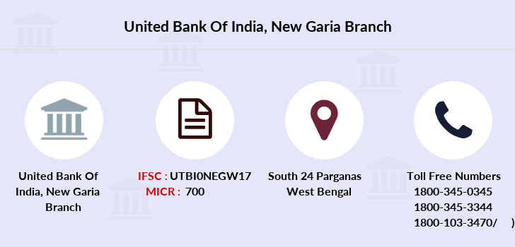 united bank of india garia branch address