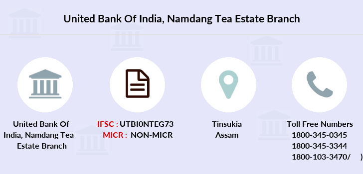 United-bank-of-india Namdang-tea-estate branch