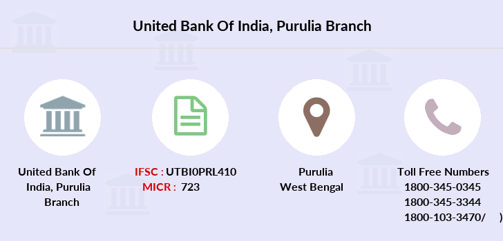 United-bank-of-india Purulia branch