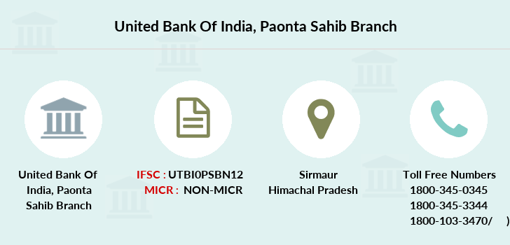 United-bank-of-india Paonta-sahib branch