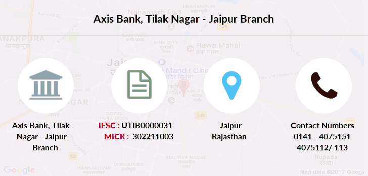 Axis-bank Tilak-nagar-jaipur branch