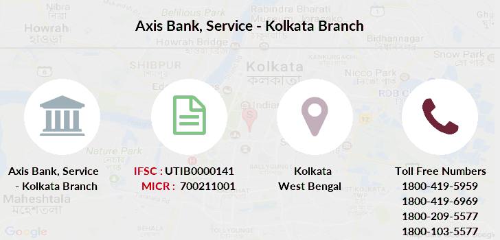 Axis-bank Service-kolkata branch