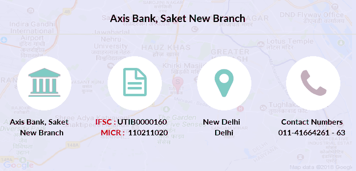 Axis-bank Saket-new branch