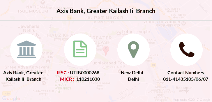 Axis-bank Greater-kailash-ii branch